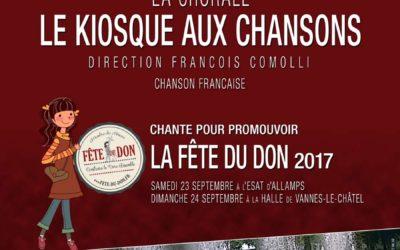 Le Kiosque aux Chansons (Pont-Saint-Vincent) chante pour promouvoir la Fête du Don